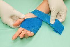 Wound dressing appy medicine bandage Royalty Free Stock Photography