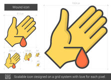 Wound line icon. Royalty Free Stock Images