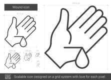 Wound line icon. Royalty Free Stock Photography