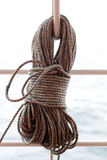 Wound Up Ship's Rope Royalty Free Stock Images