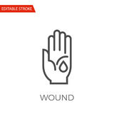 Wound Vector Icon. Wound Thin Line Vector Icon. Flat Icon Isolated on the White Background. Editable Stroke EPS file. Vector illustration Stock Images