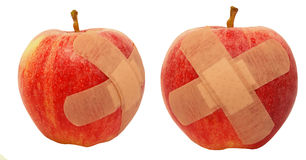 Wounded apples Stock Photography