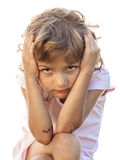 Wounded child girl portrait Stock Photography