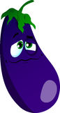 Wounded eggplant Stock Image
