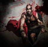Wounded gladiator Stock Photography