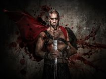 Free Wounded Gladiator With Sword Stock Photos - 36530733