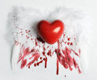 Wounded heart royalty free stock photography