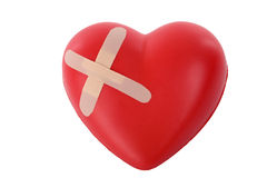 Wounded heart Stock Photo