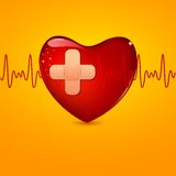 Wounded Heart Royalty Free Stock Photos