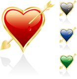 Wounded heart. Vector illustration of the wounded heart Royalty Free Stock Photography
