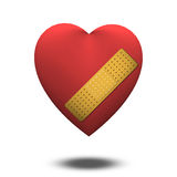 Wounded heart Royalty Free Stock Image