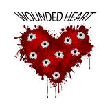 Wounded heart Royalty Free Stock Photo