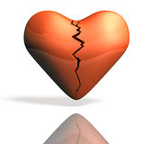 Wounded heart torn. Royalty Free Stock Photos