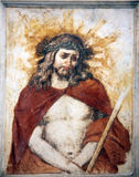 Wounded Jesus. Jesus Christ on Good Friday Royalty Free Stock Photos
