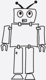 Wounded robot vector illustration