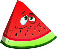 Wounded slice of watermelon Stock Images