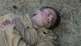 Wounded Soviet soldiers comes to life stock footage