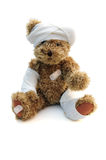 Wounded ted royalty free stock photo