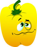 Wounded yellow bell pepper Stock Photos