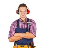 Woung engineer on isolated Royalty Free Stock Photo