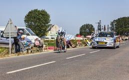骑自行车者Wouter Poels 库存图片