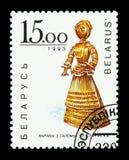 Wovan biélorusse, serie de Straw Figures, vers 1993 Photographie stock libre de droits