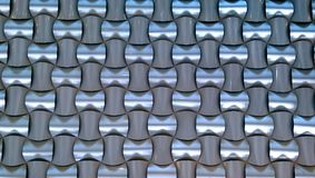 Woven Aluminum Pattern Royalty Free Stock Photos