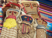 Woven American Indian Dolls. Woven native american dolls made of burlap and yarn Royalty Free Stock Images