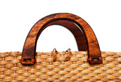 Woven bag isolated on white Royalty Free Stock Image