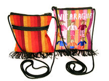 Woven bag purse made in Nicaragua Royalty Free Stock Photography