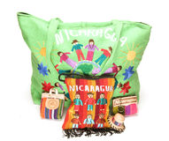 Woven bag purse made in Nicaragua Royalty Free Stock Images