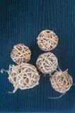 Woven balls for decoration Stock Photos