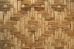Woven bamboo background Royalty Free Stock Photos