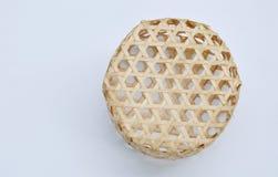 woven bamboo basket on white background Royalty Free Stock Image