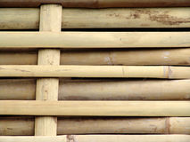 Woven bamboo fence Stock Images