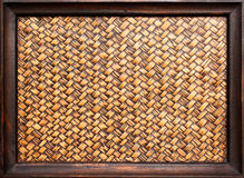The woven bamboo frame Stock Images
