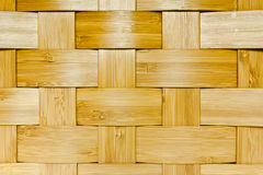Woven bamboo panel Stock Image