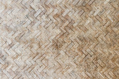 Woven bamboo pattern texture Royalty Free Stock Photography