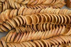 Woven bamboo saucer Stock Photos