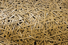 Woven Bamboo Texture. Bamboo that has been woven into a sculpture. This close up shows the detail and pattern created by this sculpture royalty free stock photography