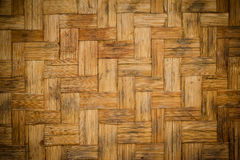 Woven bamboo texture Stock Photography