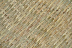 Woven bamboo texture Stock Image