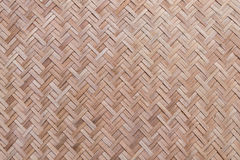 Woven bamboo texture and background Royalty Free Stock Photo