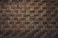 Woven bamboo texture. Pattern and texture background royalty free stock images