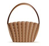 Woven basket. Illustration of empty woven basket on white background Stock Images
