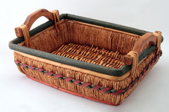 Woven Basket. White Background stock images