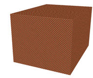 Woven basket. In 3D with soft texture Royalty Free Stock Photography