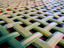 Woven basket background with bamboo Royalty Free Stock Photo