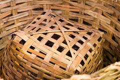 Woven basket bamboo Royalty Free Stock Image