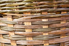 Woven basket bamboo Stock Images